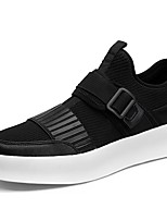 Men's Shoes Tulle Spring Fall Comfort Sneakers Split Joint For Casual Black/White Black
