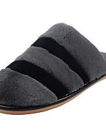 Men's Shoes Velvet Winter Fur Lining Fluff Lining Comfort Slippers & Flip-Flops Pom-pom For Casual Dark Grey Brown