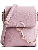 Women Bags All Seasons PU Shoulder Bag Zipper for Casual Outdoor Black Blushing Pink Gray Purple