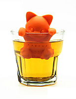 мультфильм кошка чай сетки силиконовый чай infuser милый оранжевый котенок чай инструменты