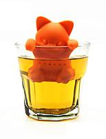 Cartoon Cat Tea Strainer Silicone Tea Infuser Cute Orange Kitten Tea Tools