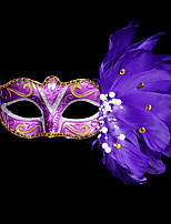 Masquerade Mask  Mask Mardi Gras Mask Halloween Costume Feather Mask for Halloween