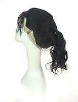 luxuriöse Körperwelle 360 Spitzeband frontale Verschlüsse gebleichte Knoten Ohr zu Ohr 360 Spitze frontale Verschlüsse mit dem Haar des