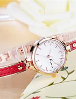 Per donna Orologio braccialetto Quarzo Lega Banda Bianco Blu Rosso Marrone Rosa Rose