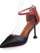 Da donna Scarpe PU (Poliuretano) Autunno Comoda Tacchi A stiletto Appuntite Più materiali Per Casual Nero Beige