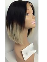 Kvinder Blondeparykker af menneskehår Brasiliansk Menneskehår Helblonde Blonde Front Halvblonder uden lim 130% Massefylde Frisure i lag