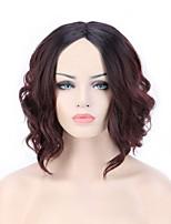 Women Synthetic Wig Capless Short Medium Natural Wave Jheri Curl Black/Dark Auburn For Black Women Ombre Hair Natural Hairline Bob