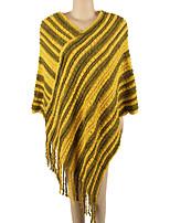 Women Wool Acrylic Rectangle Striped Spring Fall