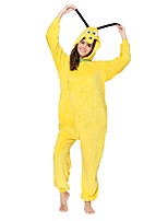 Kigurumi Pajamas Dog Leotard/Onesie Festival/Holiday Animal Sleepwear Halloween Yellow Animal Flannel Kigurumi For Unisex Halloween