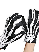 Unisex Halloween Costume Cosplay Skeleton Skull Ghost Gloves