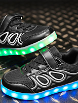 Boys' Shoes Fabric Leatherette Net Fall Winter Light Up Shoes Comfort Sneakers With LED Lace-up For Casual Outdoor Blushing Pink Blue