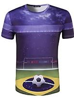 Homme Football Hauts/Top Confortable Eté Motif Polyester Football Extérieur