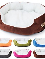 Dog Bed Pet Mats & Pads Footprint/Paw Warm Washable Random Color