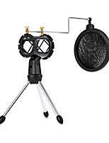 Pop Filter Adjustable Desktop Tripod Studio Condenser Stand For Microphone With Windscreen Cover