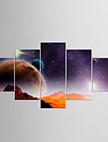 Stretched Canvas Print Abstract,Five Panels Canvas Any Shape Print Wall Decor For Home Decoration
