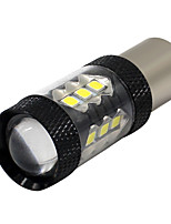 2X White P21W 1156 BA15S 3030 16 SMD LED Car Rear Backup Reserve DRL Light 12-24V