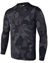 Men's Running T-Shirt Long Sleeves Quick Dry Breathability Lightweight Stretchy Sweat-Wicking T-shirt for Running/Jogging Casual Exercise