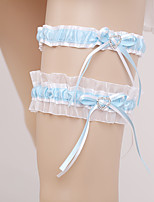 Lace Wedding Garter with Rhinestone Bowknot Wedding AccessoriesClassic Elegant Style