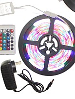 5M 300x2835LED Strip Light Sets Waterproof RGB 24 key controller AC100-240V AU / EU / US / UK Power Plug  DC12V 2A
