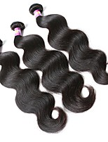 cheap -Malaysian Hair Wavy Human Hair Weaves 3pcs 0.3