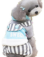 Dog Clothes/Jumpsuit Dog Clothes Casual/Daily Stripe Blushing Pink Blue Yellow