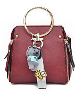 Women Bags All Seasons PU Shoulder Bag Zipper for Casual Red Blushing Pink Gray Dark Green Brown