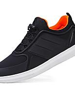 Для мужчин обувь Ткань Весна Осень Удобная обувь Светодиодные подошвы Кеды Шнуровка Назначение Атлетический Повседневные Черный