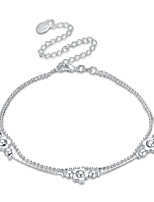 Women's Anklet/Bracelet Silver Plated Basic Flower Jewelry For Party Casual