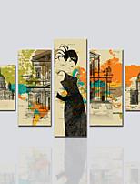 Toile Cinq Panneaux Toile Imprimé Décoration murale For Décoration d'intérieur
