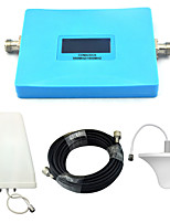 Intelligent Display Mobile Phone Signal Booster CDMA 850mhz 800mhz DCS 1800mhz Signal Repeater with Ceiling Antenna / Log Periodic Antenna / Blue