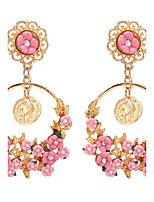 Per donna Orecchini a goccia stile sveglio Elegant Di tendenza Personalizzato Lega A forma di fiore goccia Gioielli Per Matrimonio Feste