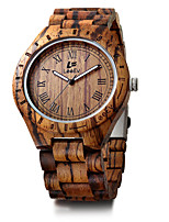 Men's Kid's Sport Watch Bracelet Watch Wood Watch Japanese Quartz Calendar Chronograph Large Dial Punk Wood Band Vintage Bangle Unique