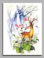 Dipinta a mano Natura morta Verticale,Artistico Stile naturalistico Rustico Compleanno Moderno/Contemporaneo Ufficio Natale Capodanno Un