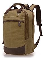 Men Bags All Seasons Canvas Backpack Zipper for Casual Blue Coffee Khaki