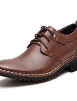 Masculino sapatos Pele Napa Outono Inverno Sapatos formais Oxfords Para Casual Festas & Noite Preto Marron