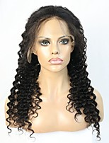 Women Human Hair Lace Wig Brazilian Remy Glueless Lace Front 150% 130% Density With Baby Hair Wavy Wig Black Short Medium Long