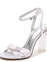 Femme Chaussures de mariage Escarpin Basique Bride de Cheville chaussures Transparent Printemps Eté Satin Mariage Habillé Soirée &