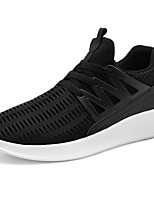 Men's Shoes PU Fall Winter Comfort Sneakers Lace-up For Casual Red Gray Black