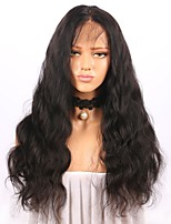 Women Human Hair Lace Wig Burmese Human Hair Glueless Full Lace 150% Density With Baby Hair Body Wave Wig Black Long Natural Hairline For