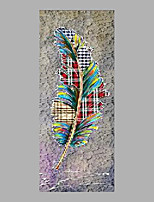 Hand-Painted Floral/Botanical Vertical,Abstract One Panel Canvas Oil Painting For Home Decoration