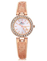Femme Montre Tendance Unique Creative Montre Montre Diamant Simulation Chinois Quartz Alliage Bande Or Rose