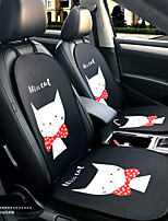 Miss Kitty Cartoon Car Seat Cushion Seat Cover Seat Four Seasons General Surrounded By A Five Seat Headrest With 2 Wheel Sets