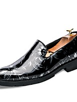 Men's Shoes Leatherette Spring Fall Novelty Loafers & Slip-Ons Split Joint For Casual Black/Green Black/Red Black/White Black