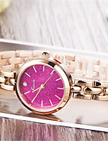 Women's Bracelet Watch Quartz Alloy Band Silver Rose Gold