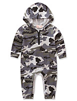 Baby Camouflage One-Pieces,Cotton Polyester Spring/Fall Summer Long Sleeve