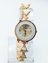 Жен. Модные часы Часы-браслет Повседневные часы Кварцевый Позолоченное розовым золотом сплав Группа В точечку Повседневная Черный Белый