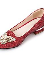 Femme Chaussures Paillette Brillante Paillettes Printemps Automne Ballerine Chaussures à Talons Talon Bas Bout pointu Strass Noeud