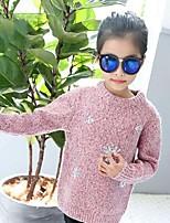Mädchen Bluse einfarbig Glitter Baumwolle Herbst Winter Lange Ärmel