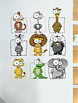 Animal Bande dessinée Stickers muraux Autocollants avion Autocollants muraux décoratifs Matériel Décoration d'intérieur Calque Mural