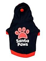 Cane Felpe con cappuccio Abbigliamento per cani Casual Geometrico Nero Rosso